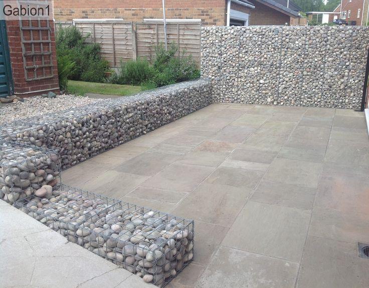 gabion wall and patio http://www.gabion1.co.uk