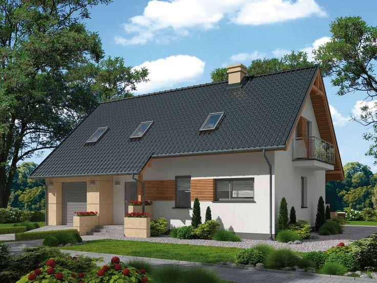 DOM.PL™ - Projekt domu PT LAMIA 2 całoroczny murowany CE - DOM PD10-75 - gotowy projekt domu