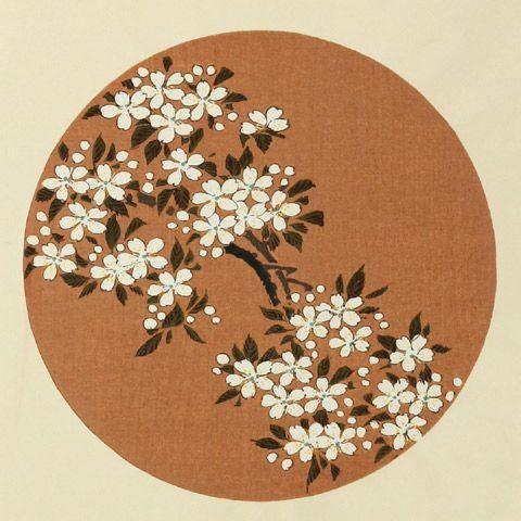 伊藤若冲『やまざくら』-「花卉図天井画 」Jakuchu Ito