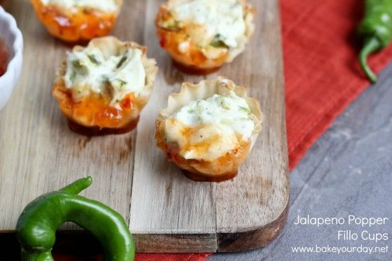 Jalapeno Popper Fillo Cups - would fill with sausage/chicken