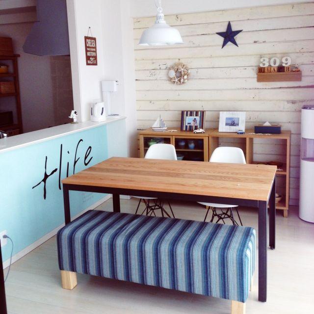 chikoさんの、西海岸風にしたい,ティンバーン スター,カリフォルニアスタイルに憧れて,ロハス戦利品,リビング,のお部屋写真