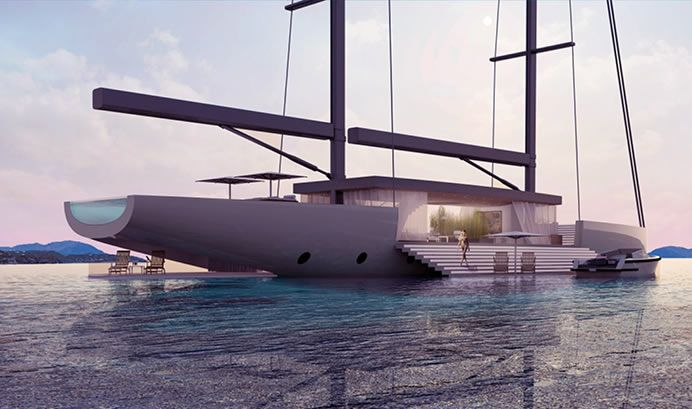 Luxury Observation Yachts - Lujac Desautel's Amazing Yacht Design Presents Unobstructed Vistas (GALLERY)
