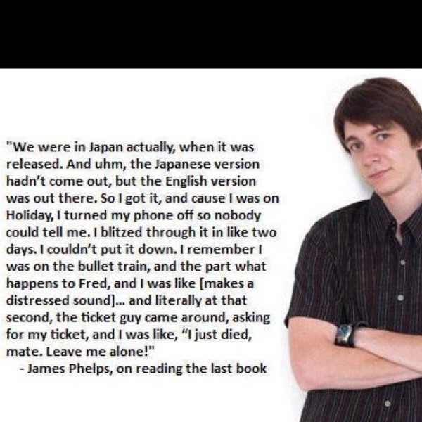 James Phelps, Fred Weasley so funny