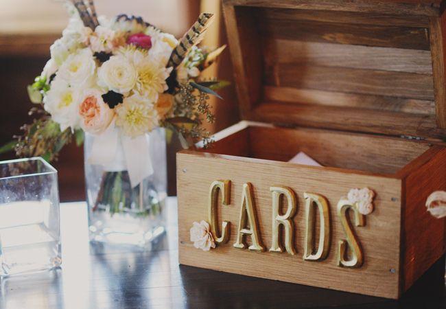 Wedding reception card box | Amy Carroll Photography | blog.TheKnot.com