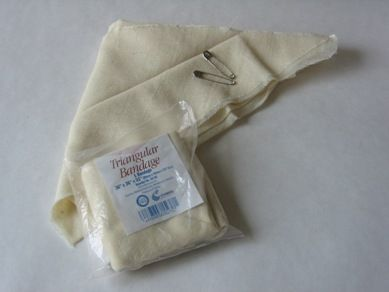 Tour of a First Aid Kit: Triangular Bandage (Cravat)