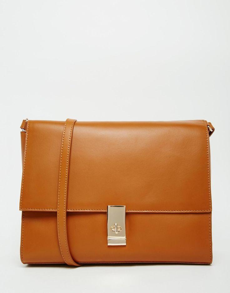 ASOS+Clean+Leather+Shoulder+Bag