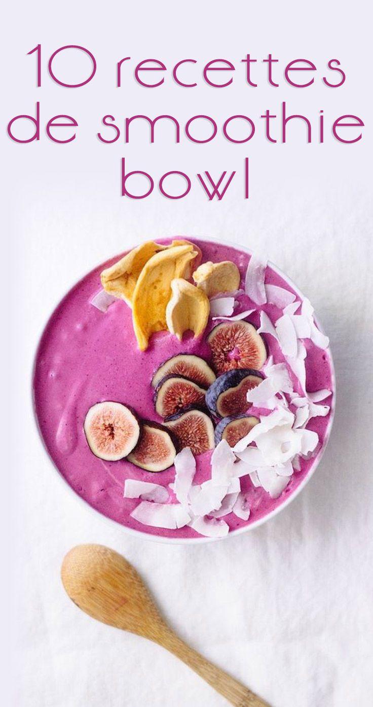 10 recettes de smoothie bowl repérées sur Pinterest  C'est l'une des nouvelles tendances «healthy» du moment ! Le smoothie bowl, cette nouvelle manière de déguster son smoothie fait fureur parmi les fans de healthy food… Voici une liste non-exhaustive de 10 recettes de smoothie bowl repérées sur Pinterest, à réaliser chez vous !