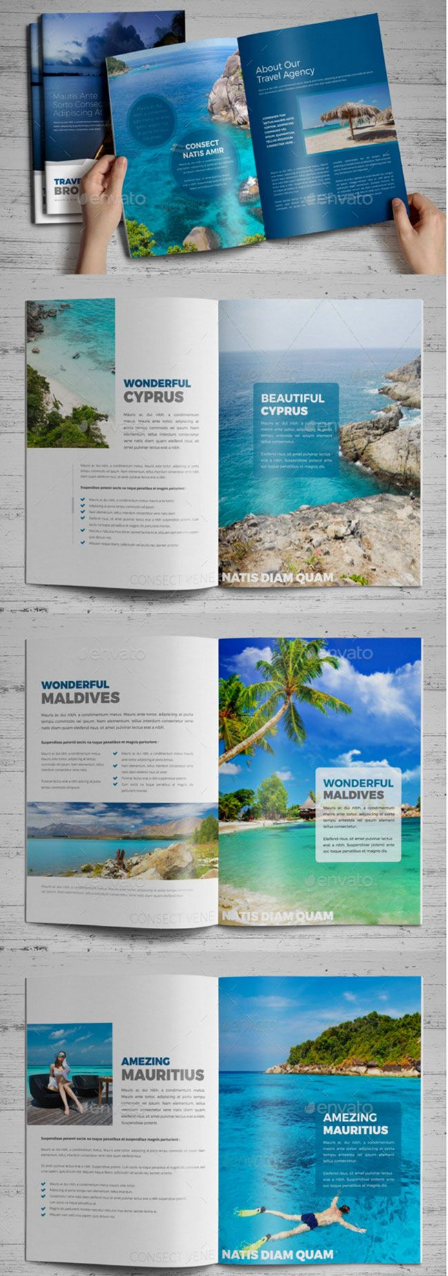 Showcase 40 best travel and tourist brochure design for Cruise brochure template