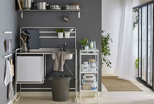 SUNNERSTA Miniküche bietet dir alle Funktionen einer vollständigen Küche, ohne…