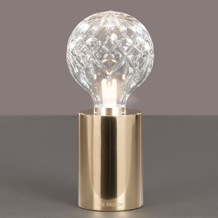 Lee+Broom+Crystal+Bulb+Table+Lamp+-+Lead+crystal+bulb+and+brass+table+lamp. Create+a+captivating+focal+point+with+the+Lee+Broom+…