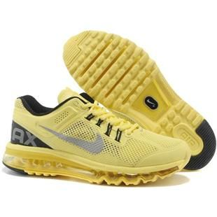 http://www.asneakers4u.com/ NIKE AIR MAX 2013 cheap mens running shoes yellow Sale Price: $68.40