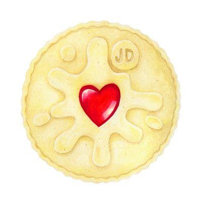 Jammie Dodger Biscuit Art Print Natasha Hutton