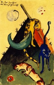 The Three Panthers of King Jussuff Franz Marc (1913)
