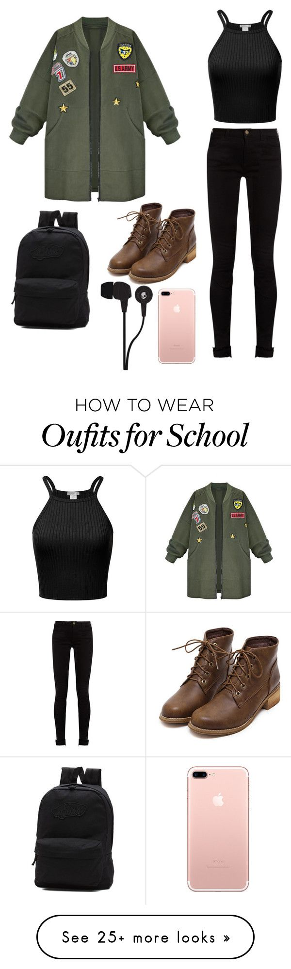 """school style"" by damlastyle on Polyvore featuring Gucci, WithChic, Vans and Skullcandy"