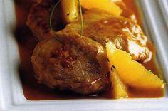 friptura de vitel cu sos de portocale