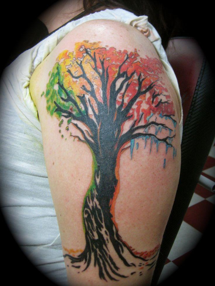 Four seasons tattoo, Adam Rose by AdamRose.deviantart.com on @deviantART - rainbow
