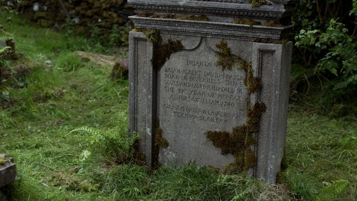 Mandy Tidwell provides our Gàidhlig translations in her Outlander Episode 112 blog post: Lallybroch – The Gàidhlig Bits I Could Decipher. Mandy also provides the translation for Brian Fraser's tombstone: 112 Bonus