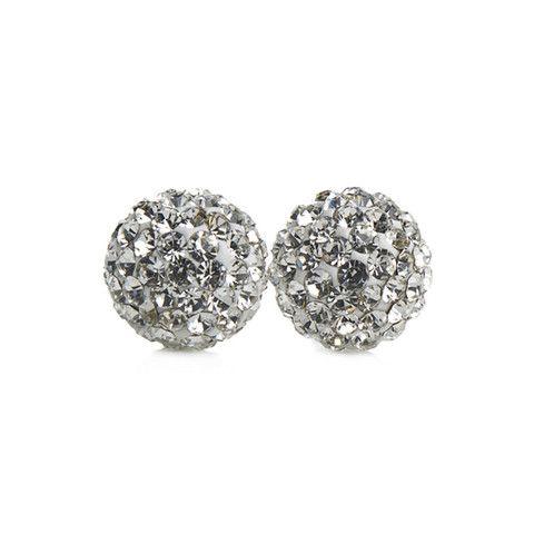 White Sparkle Ball Stud Earrings – Hillberg & Berk
