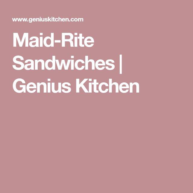 Maid-Rite Sandwiches | Genius Kitchen