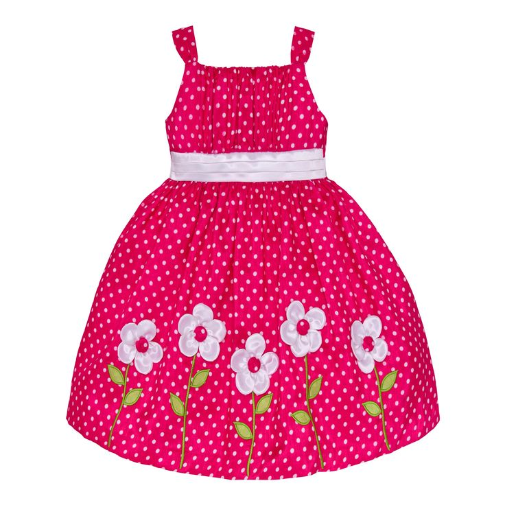 This candy pink #floraldress for your girl is an apt pick to dress her like doll!