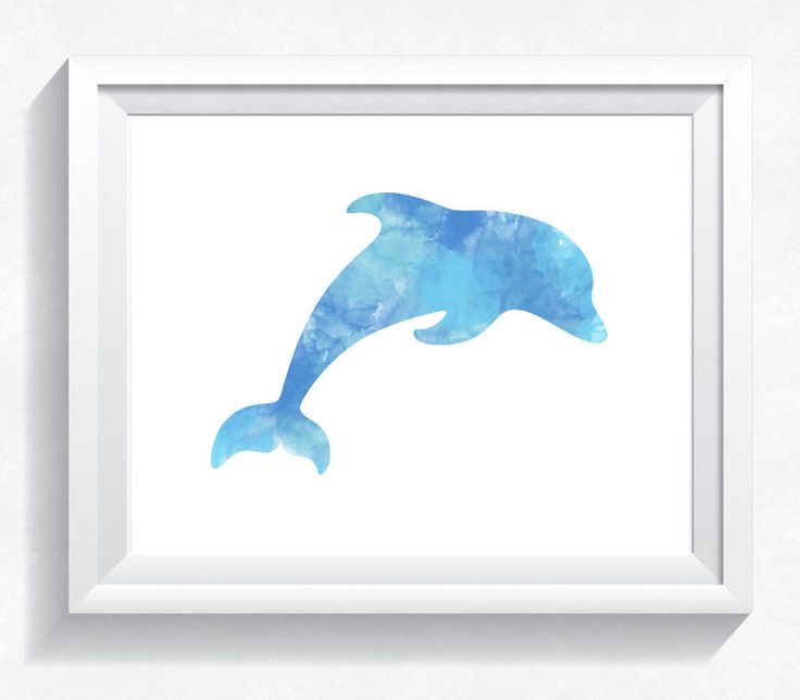 Dolphin print,  watercolor print, watercolor dolphin, watercolor poster, dolphin wall art, dolphin painting, dolphin printable, download by HappyLittleFrog on Etsy
