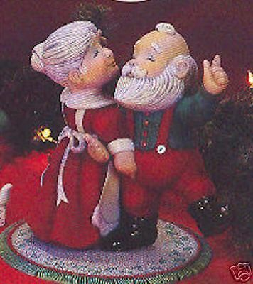 Ceramic Bisque -Ready to Paint Dancing Santa & Mrs.Santa MUSIC BOX KIT…