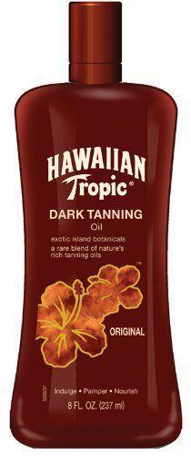 Hawaiian Tropic Dark Tanning Oil, SPF 0, 8 Fluid Ounce
