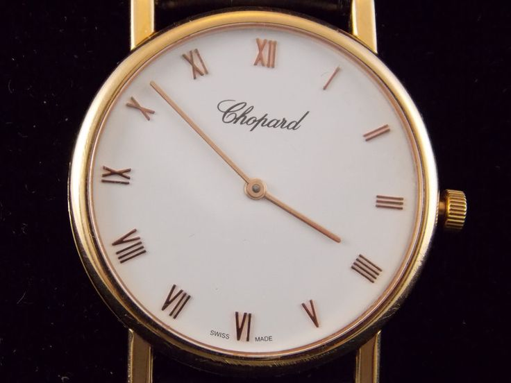 Chopard classique men´s watch. 18K Gold. Ultra thin.  |  #chopard #watch #gold watches for sale ebay