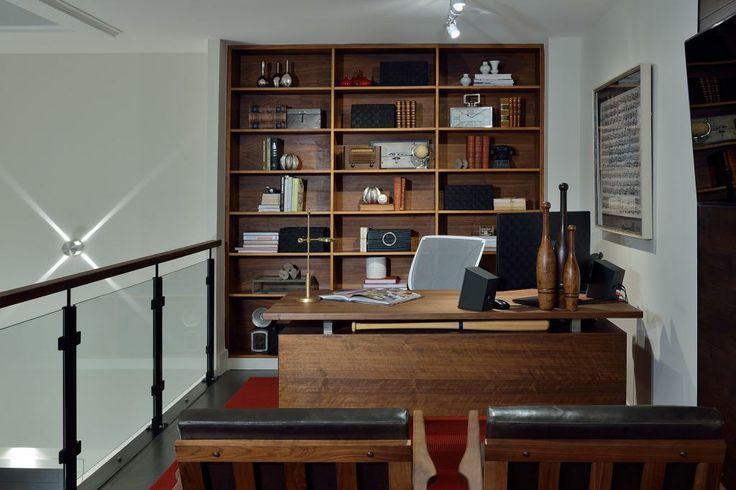 Space shown at the Van Gogh Showroom 2014. #GlenandJamie #Design #officespace #shelving #desk #chairs #art