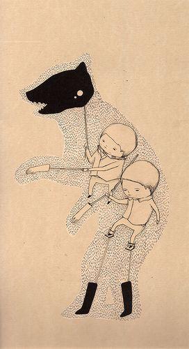 bear in socks and gloves by ghostpatrol, via Flickr