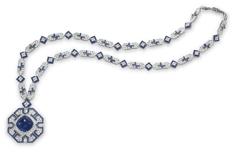 Collar de zafiros y diamantes de BVLGARI (1969). Regalo de Richard Burton para el cumpleaños #40 de Elizabeth Taylor, 1972. Estimado: $600,000–800,000.
