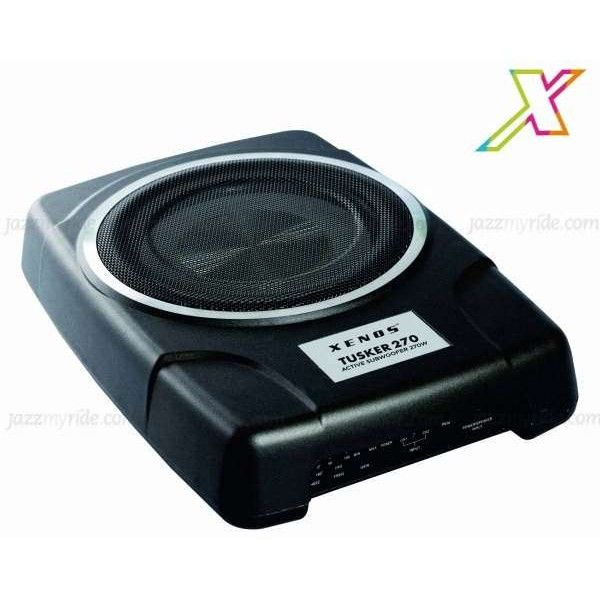 #Xenos TUSKER 270 by #jazzmyride The Xenos TUSKER 270 Sub-Woofer For Cars (84000008) RCA/High Level Inputs, Low Pass crossover frequency (50Hz-100Hz), Compact design, Dimension (W x H x D) : 345 x 240 x 68 mm, 270W maximum power output, Built in 100W RMS Power Amplifier, 8 Inch Subwoofer Sealed enclosure design and Subwoofer PHASE Switch (0-180)