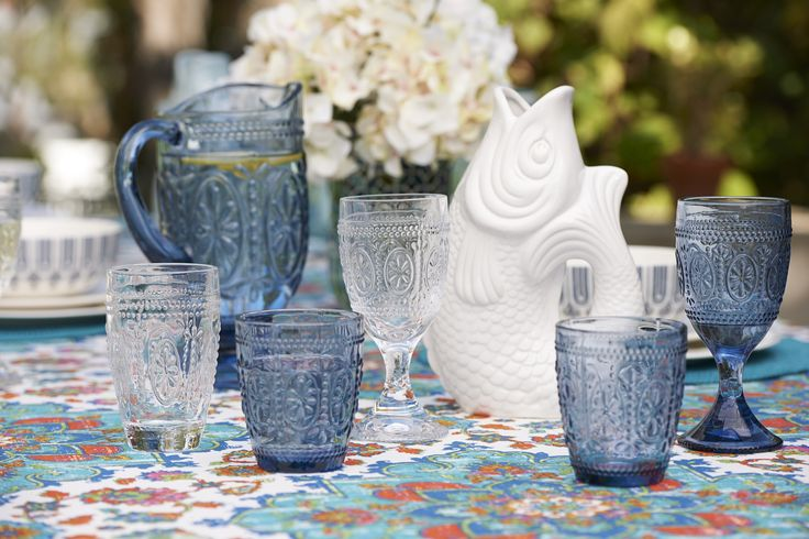 Mediterranean collection: it's all about colour, pattern and texture  #tabletop #bedbathntable