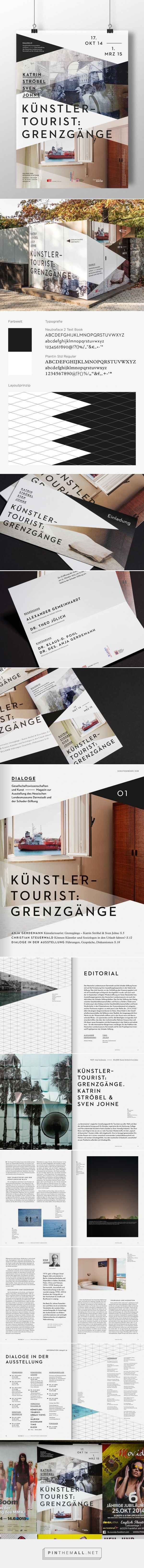 Corporate Design: Schader-Stiftung The exhibition series Dialogues is a cooperation of the Hessian State Museum Darmstadt and Schader Foundation. Current theme of communication 01 is an artistic approaches to tourist travel, the work of contemporary artists Katrin Stroebel and Sven Johne shows in the gallery of Schader Foundation. With our new corporate design for the cooperation we bear within the meaning of Schader Foundation for dialogue between social sciences and the arts.