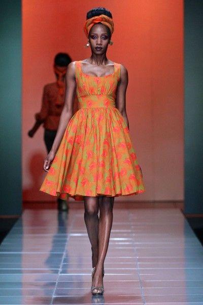 Mercedes-Benz Fashion Week Africa. Bongiwe Walaza collection. Pretoria