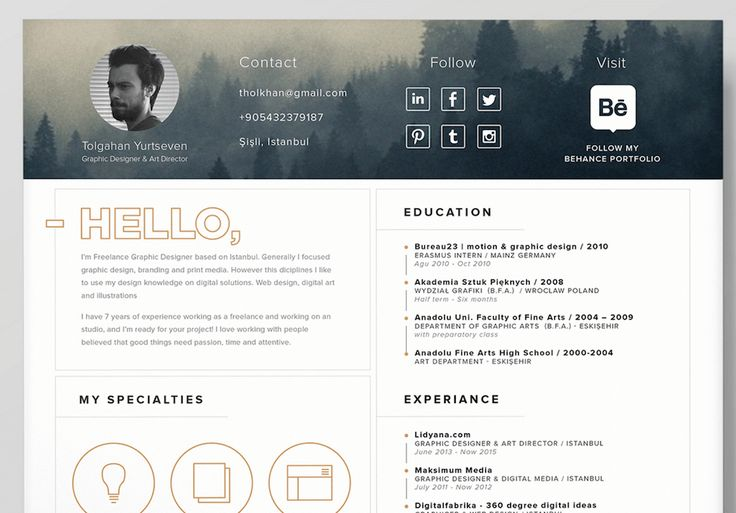 Best Creative Resumes Custom 9 Best T E M P L A T E S Images On Pinterest  Resume Templates .
