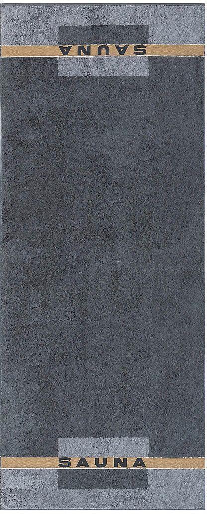 Tolles Saunatuch »Sauna« der Marke Cawö. Das grafische Tuch aus 100% Baumwolle ist perfekt für Ihren nächsten Saunagang geeignet - in die Größe 80x200 cm können Sie sich gut einkuscheln. Der praktische Kordelaufhänger und die flauschige Walkfrottee-Qualität sprechen für sich. Gönnen Sie sich erholsame Stunden mit diesem schönen Saunatuch.   Artikeldetails:  Grafisches Handtuch, Mit Kordelaufhän...
