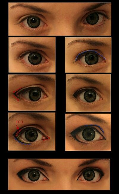 Cosplay makeup - anime guy eyes