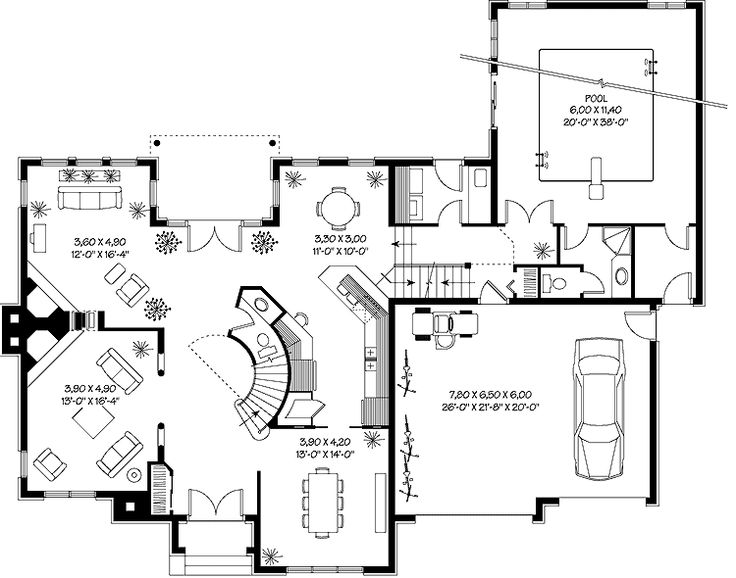 nice house plans with indoor pool in print this floor plan print all floor plans house plans pinterest indoor swimming pools swimming pools and pool