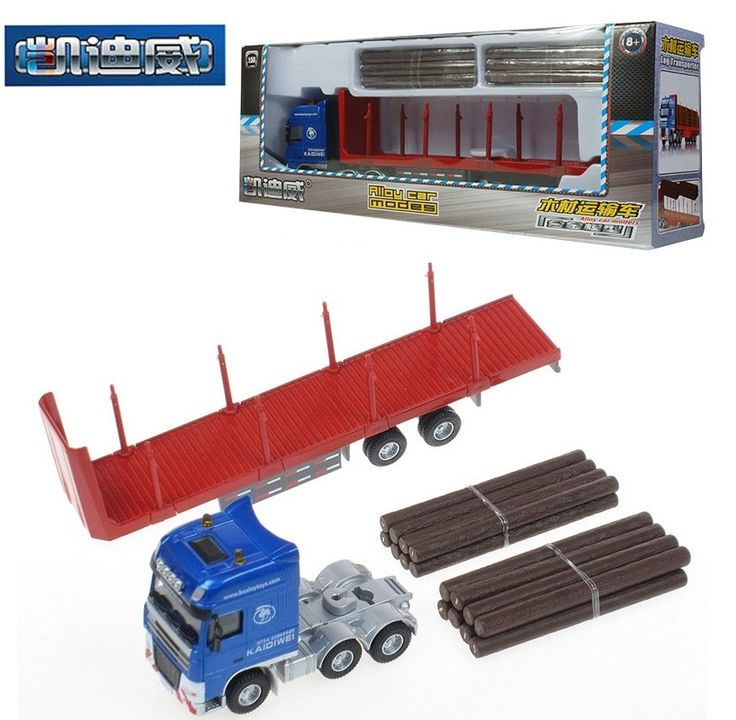 KDW Alloy engineering vehicle model 1:50 Timber transport vehicle truck metalwork toys for children car