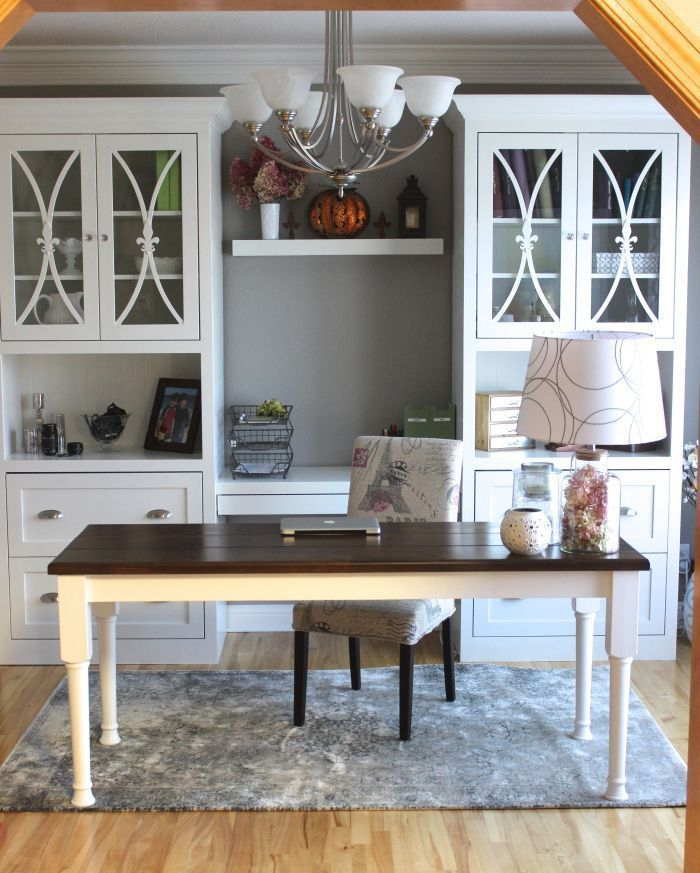 My home office used to be my dining room!  We took a room we never used and now I use it every day!  Check out the before and after.