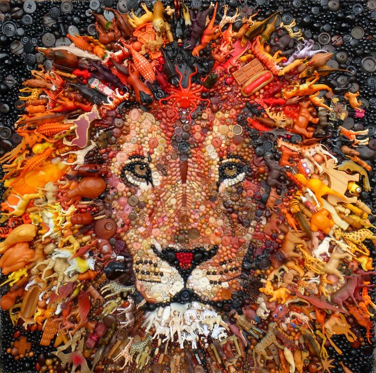 17 best images about recycled art on pinterest las for Pinterest obras de arte