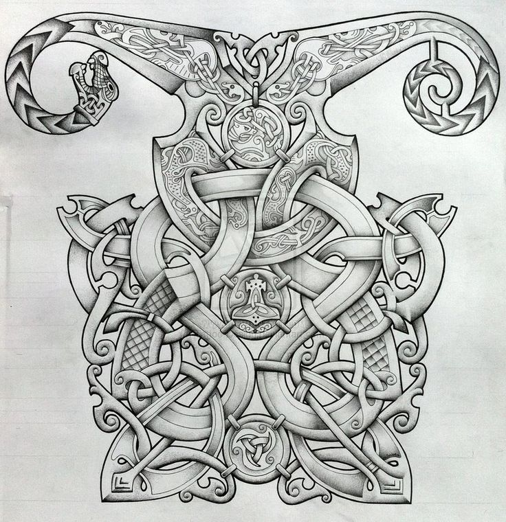 Tattoos Celtic Norse Viking And Oseberg Influenced Knotwork Design By Tattoo