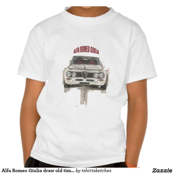 Alfa Romeo Giulia draw old time classic car T-shirt