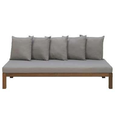 Loungebank Ibiza - bruin - 79x180x26 cm