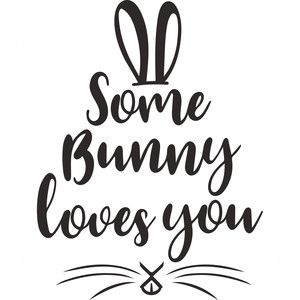 Silhouette Design Store: some bunny loves you