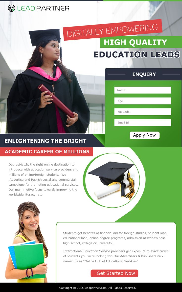 Education Landing Page 1