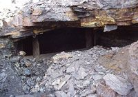 A mine void found beneath the eastbound lanes of Ohio Route 32 in Jackson County. Photo courtesy of the Ohio Department of Transportation #howdidyoureact