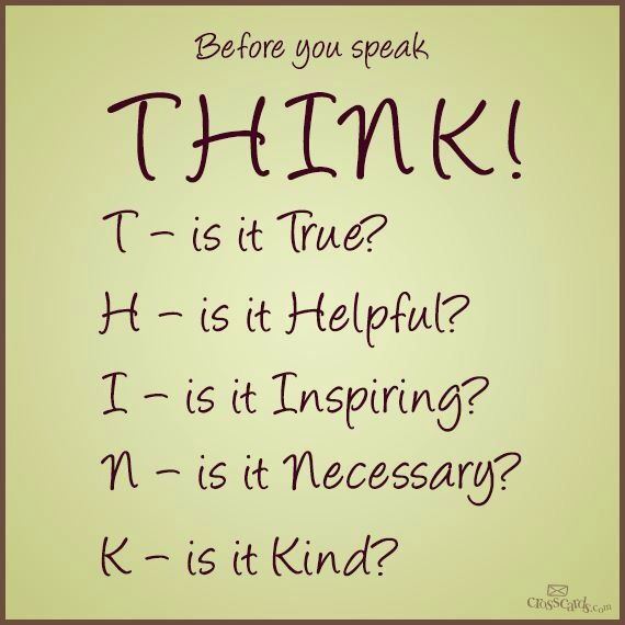 Pinterest Thinking Of You Quotes: Think Before You Speak