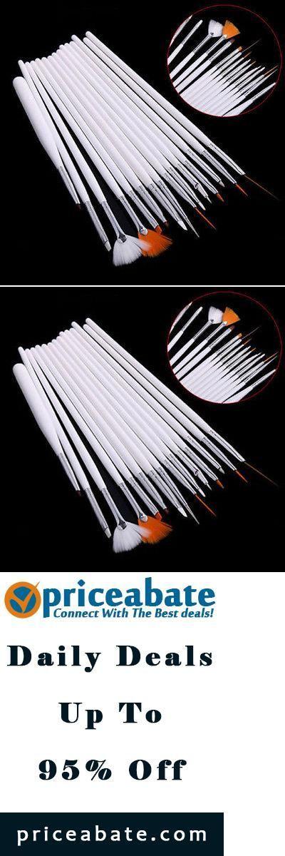 #Priceabate 15pcs Acrylic UV Gel Nail Art Design Pen Polish Painting Tool Dottin...